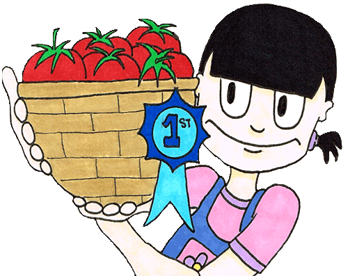 vanessa and her prize winning tomatoes